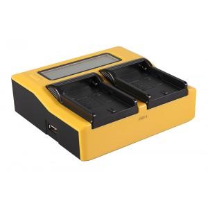 Двуканално зарядно с дисплей Patona за батерии Sony NP-FM500H