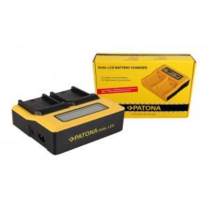 Двуканално зарядно с дисплей Patona за батерии Sony NP-F550, NP-F750, NP-F960