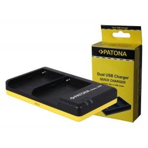 Двойно USB зарядно Patona BC-V615 за батерии Sony NP-F550, NP-F750, NP-F960