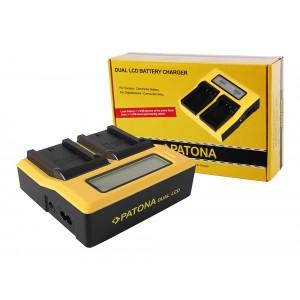 Двуканално зарядно с дисплей Patona за батерии Sony NP-FZ100